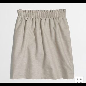 JCREW metalic linen cotton mini skirt